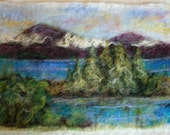 Alpine Lake -- Needle Felted Landscape