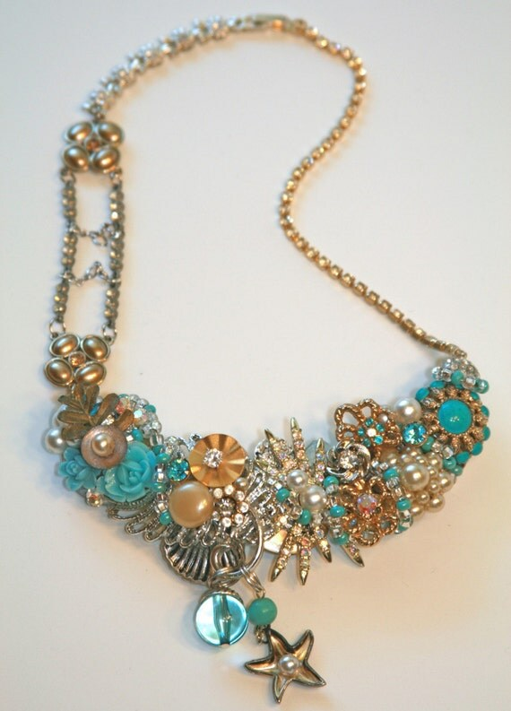 Aquamarine Dream Adjustable Necklace/Choker