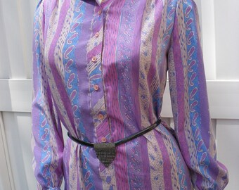 Paisley Pastel Shirt Dress