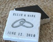 Personalized Intertwining Ring Wedding Favors - Traditional Save the Date Magnet - Set of 50