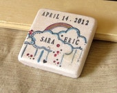 Rainbow Wedding Favor Magnets - Save the Date Magnets - Set of 25