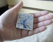 Worry Stone - One Day at a Time Light Blue Tree Design - Soothing Stone - Sympathy Gift