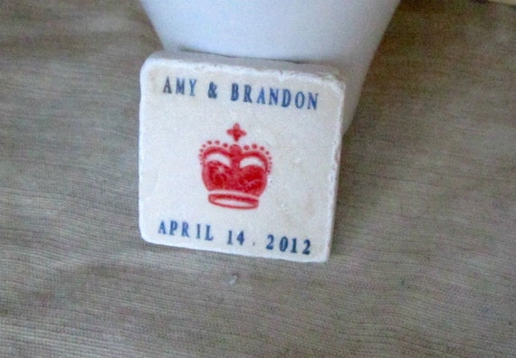 Royal Crown British Save the Date Magnets, Wedding Favors, Set of 25