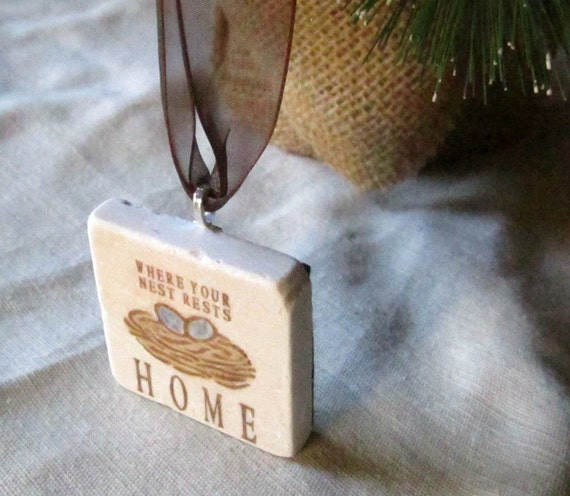 Holiday Christmas Ornament - Home Nest - Houswarming Gift - Ready to Ship