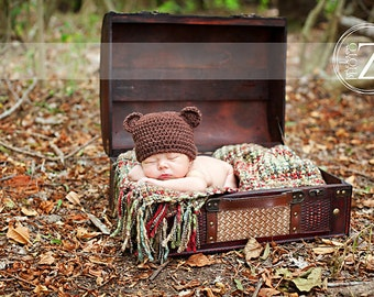 Bear Hat - Newborn to Child Sizes - Any Colors