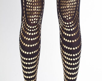 Gold accessories tattoo tights Goldfish available in S-M L-XL