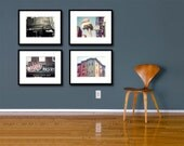 Save 20%, Boston North End Photography Collection, 5x7 Fine Art Photo Set, Architecture Photography, New England Photos, Gift Under 50