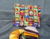 Reusable Plastic Lined Sandwich Bag, Fruit Stamps Design