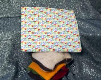 Sandwich Bag, Reusable, My ABC Blocks Design, Plastic Lined