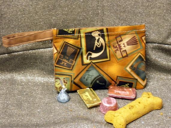 Reusable Snack Bag, Southwestern Kokopelli Squares Print