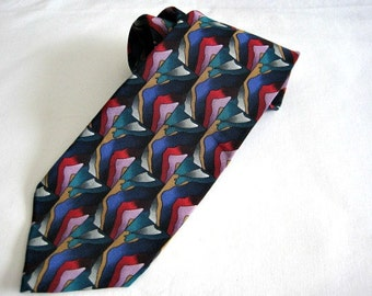 Jerry Garcia Abstract Silk Necktie