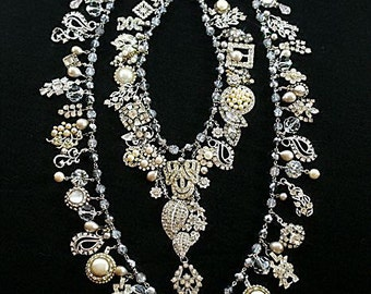 OMG Necklace. OH. M. G.  Beyond Decandance. Downpayment for a Custom Necklace by Kay Adams.  Art, Wedding or Runway Jewlery.