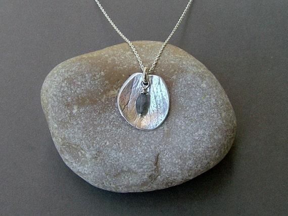 Rose Petal Silver Pendant