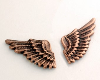 Wing Cuff Links SOLDERED - Cuff Wings - Antique Copper Winged Cufflinks - The Flight Series Cufflink - SOLDERED Feathered Fantasy Cuff Link