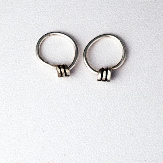 Loop De Loop Tiny Hoops - UNISEX - Sterling Silver - Tarnish Resistant Argentium Sterling Petite Hoop Earrings - Single Earring Available