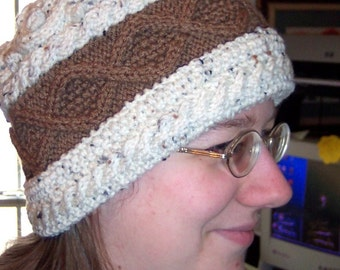 North Country Hat - Handknit Cables and Bobbles