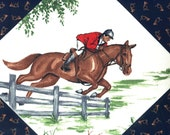 Fox Hunting Fabric Panels - Set of 3 - VIP for Cranston - VINTAGE - Out of Production