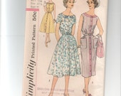 Simplicity 2585 Belted Summer Dress from the early 1960s VINTAGE