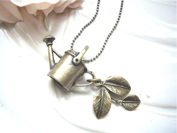 Garden Watering Can Charms Necklace
