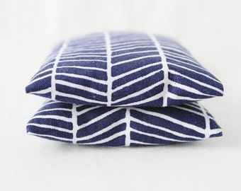 Scented Drawer Sachets, Navy Blue & White Herringbone,  Gifts for Women, Modern Home Decor