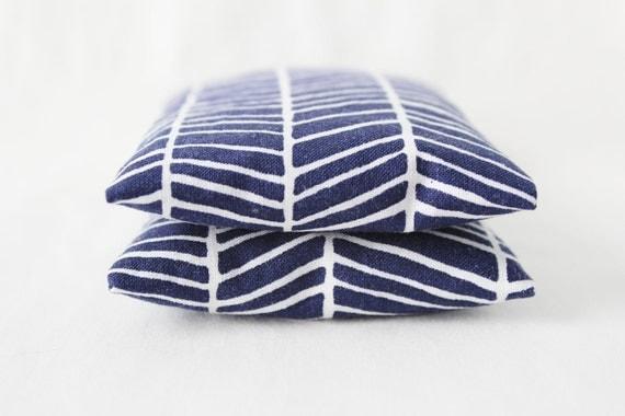 Lavender Rose Jasmine Scented Drawer Sachets - Navy Blue & White Herringbone - Gifts for Women - Modern Home Decor
