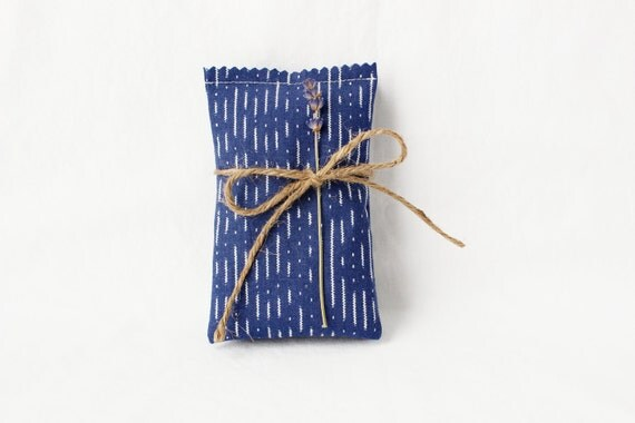 Modern Lavender Sachets, Navy Blue and White, Moth Repellent Drawer Sachets, Gift for Women