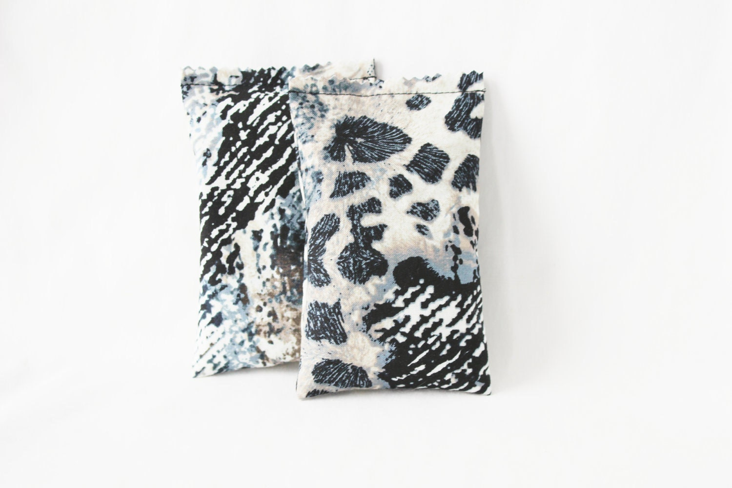 Items Similar To Tribal Home Decor Grey Leopard Print