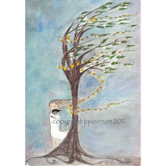 Adoption Art Mother Daughter Love's Gentle Breeze Family Tree Series