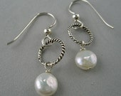 Reserved for Kathy--Sterling Silver Dangles with Twisted Wires