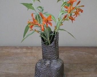 Gnarly Textured Sculpture Vase
