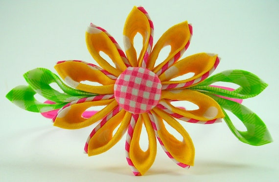 Miss Emily Kanzashi Fabric Flower PDF Tutorial ... 2 in 1 also includes Flower Tutorial 5