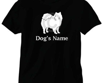 American Eskimo Dog Personalized T-Shirt with Dog's Name