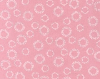 Pimatex Basic fabric Pink with white bubbles by Robert Kaufman