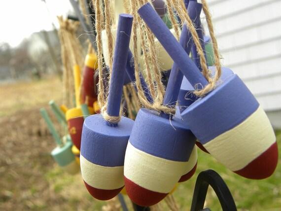 wedding favor lobster buoys beach nautical decor wine bottle charms set of 5