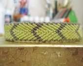 Woven Yellow and Grey Bracelet