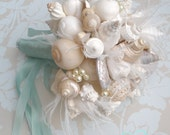 Made to Order Custom Details Bridal Bouquet of Shells (Hinewai Clean Style). FULL PAYMENT