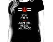 Star Wars Rebel Alliance Black T Shirt for Women - Size S - XL