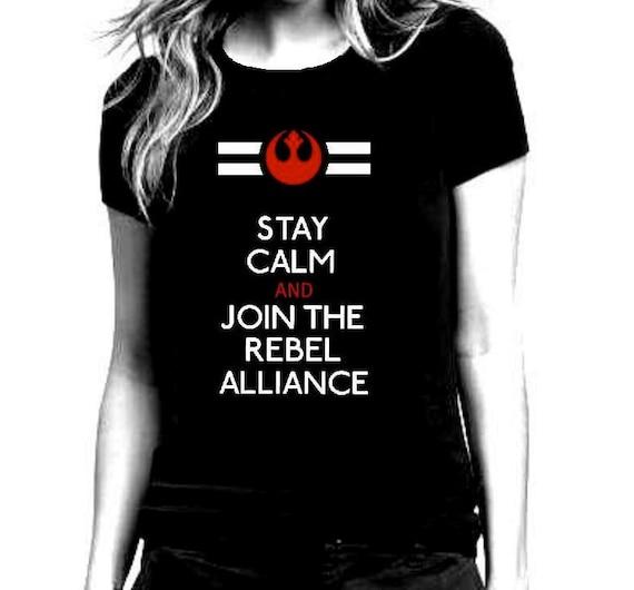 Star Wars Rebel Alliance Black T Shirt for Women - Size S - XL