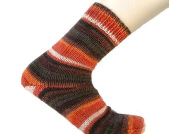 Socks Orange/Brown/White, EU size 41, US size 10 - 10.5, UK size 8-8.5