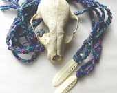 LAST ONE White Bird Woven Bone Necklace