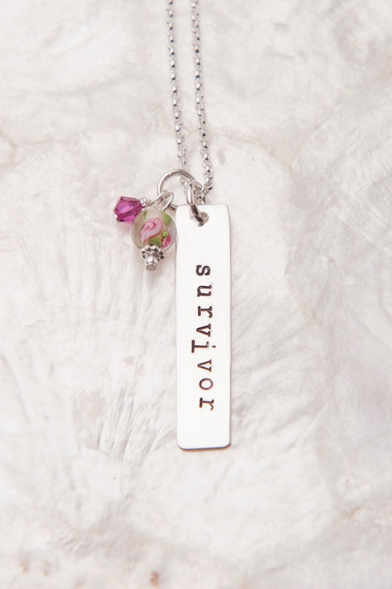 Survivor Necklace, Breast Cancer Jewelry, Breast Cancer Awareness Jewelry, Infertility Necklace