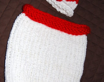 Knit Holiday Cocoon and Hat Pattern