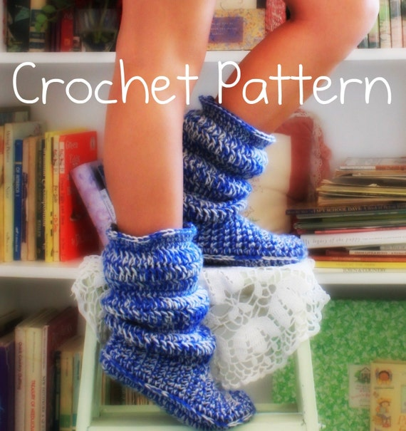 Crochet pattern- hollydoll cozy boots- the original and best-US womens sizes 5,6,7,8,9,10
