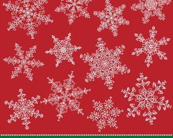 Ornate Snowflakes clipart, lace snowflakes CA018 instant download