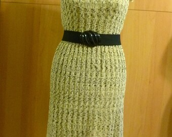 PRICE REDUCED 50s Knit Wiggle Dress, Vintage Mid Century