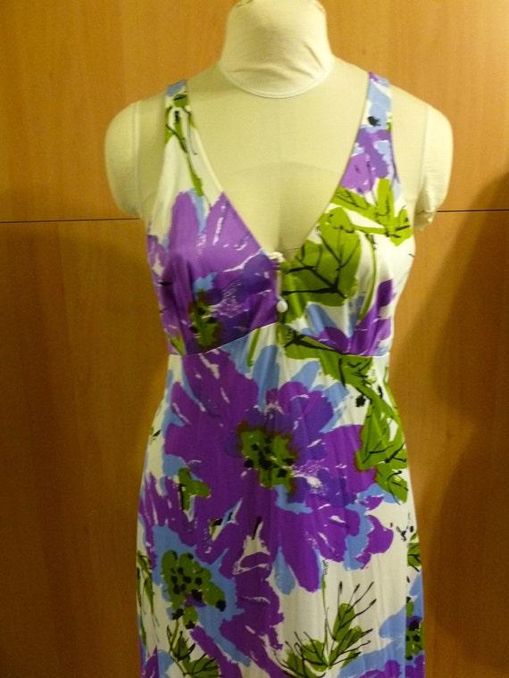 PRICE REDUCED Beautiful VERA Purple Floral Nightgown/Dress
