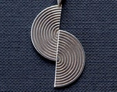 life on the fault line: sterling silver necklace, science jewelry, geology earthquake nature, San Francisco, Los Angeles, California, Alaska