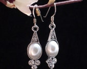 Bridal earrings wedding Earrings Mae er1033 beautiful pearl and crystal wedding earrings deco Silver crystal great bridesmaids earrings