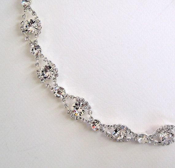 Simple Beauty bridal rhinestone ribbon headband