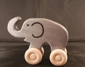 Homeless Elephant - a baby/toddler wooden toy animal